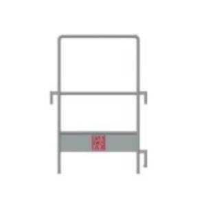 Barandilla lateral DUO 45 BB (Rodapié) (GA)