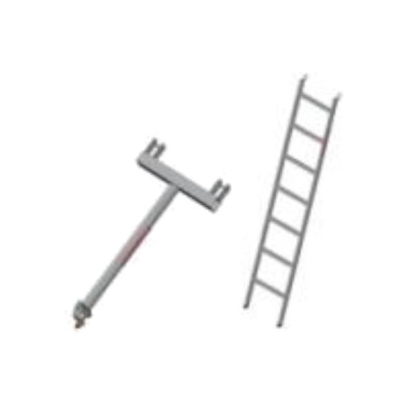 escalera y soporte