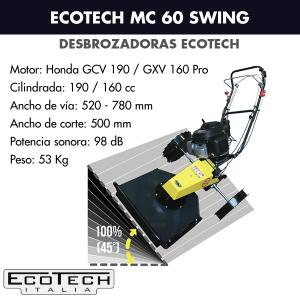 Desbrozadora de ruedas Ecotech MC 60 Swing