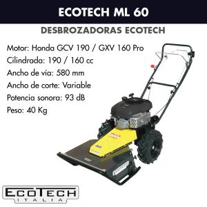 Desbrozadora de ruedas Ecotech ML 60