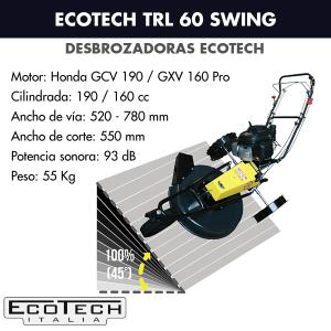 Desbrozadora de ruedas Ecotech TRL 60 Swing