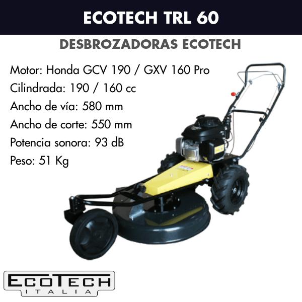 Desbrozadora de ruedas Ecotech TRL 60