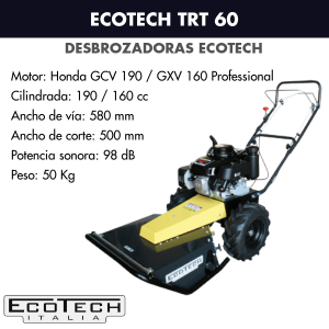 Desbrozadora de ruedas Ecotech TRT 60