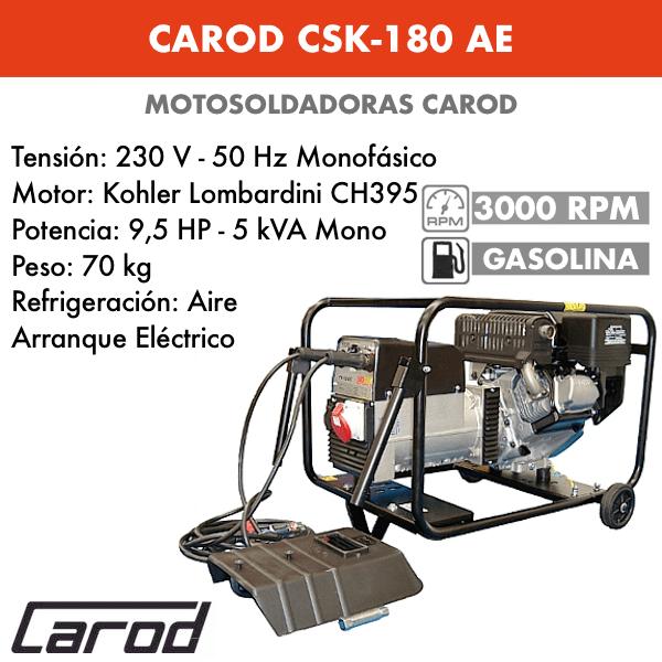 Scie à chaîne Carod CSK-180 AE avec moteur CH395 Kohler Lombardini avec démarreur électrique à essence