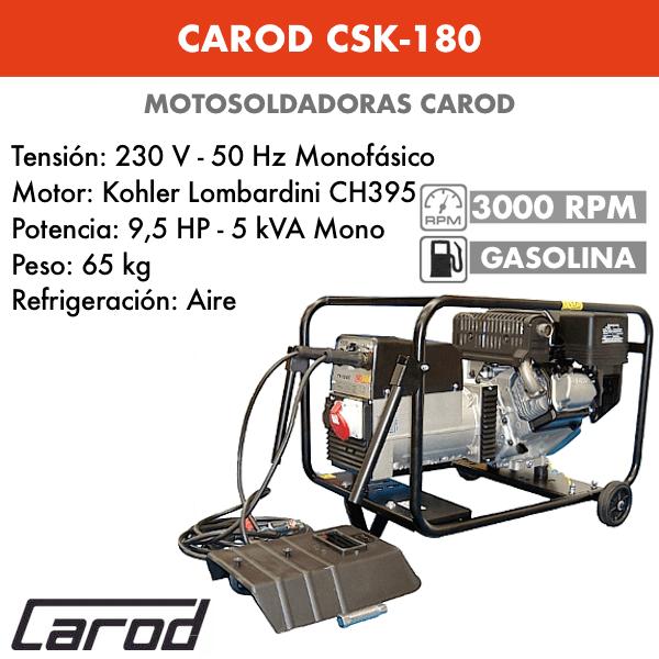 Tronçonneuse Carod CSK-180 avec moteur Essence Kohler Lombardini CH395