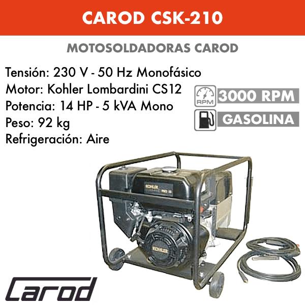 Tronçonneuse Carod CSK-210 avec moteur Essence Kohler Lombardini CS12