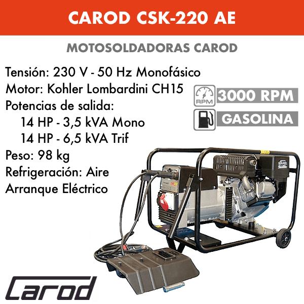 Tronçonneuse Carod CSK-220 avec moteur Essence Kohler Lombardini CH440
