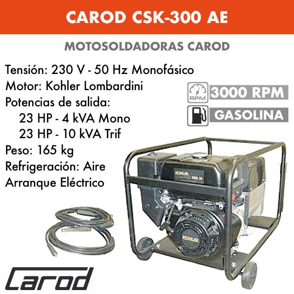 Scie à chaîne Carod CSK-300 AE avec moteur Kohler Lombardini avec démarreur électrique à essence