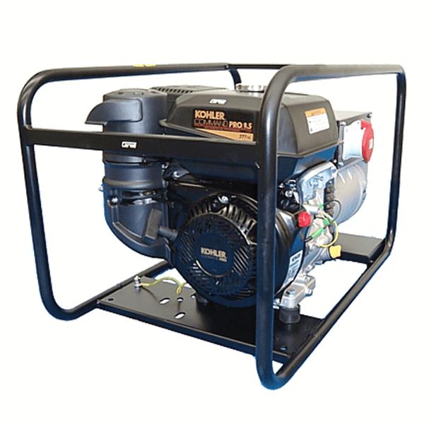 Generador Eléctrico Trifásico Carod CTK-5 AE con motor Kohler Lombardini CS10 con Arranque Eléctrico de Gasolina
