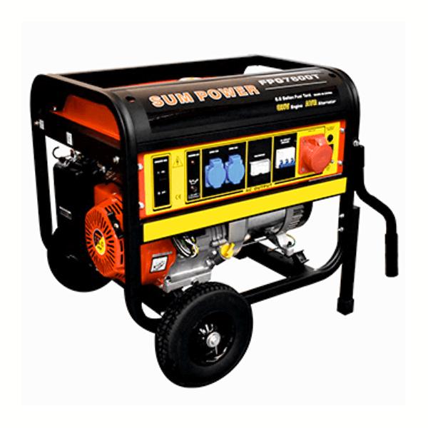 Generador Eléctrico Trifásico Carod FPG-7800TE con motor Sumpower 459cc con arranque eléctrico de Gasolina