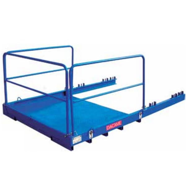 Plataforma para fachada Dacame DCM 1500 kg (PT/GA) + opción fija o con trampilla