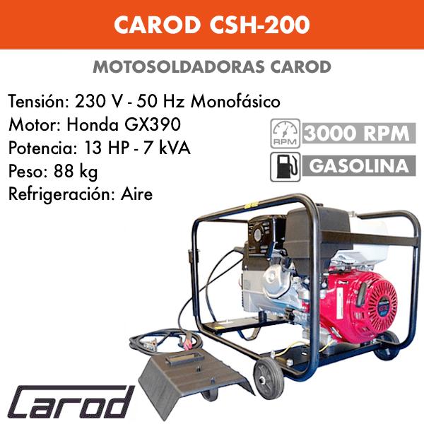 Scie à chaîne Carod CSH-200 avec moteur essence Honda GX390
