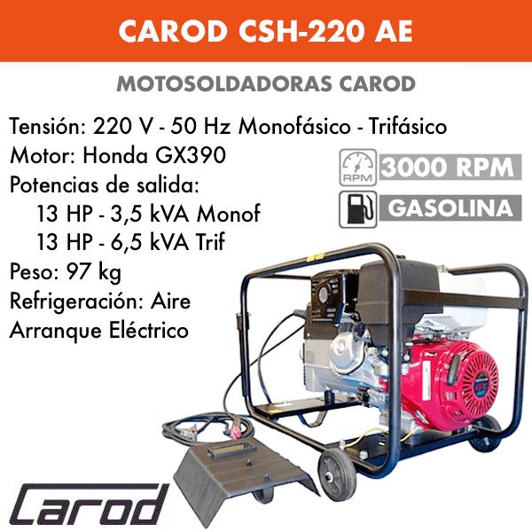 Scie à chaîne Carod CSH-220 AE avec moteur Honda GX390 avec démarreur électrique à essence