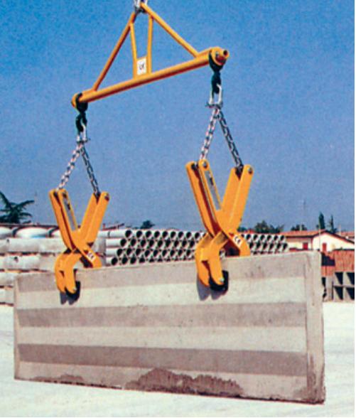 Soporte horizontal para pinzas de elevación con ganchos BIL 1/2 metros - 1500-2000 kg