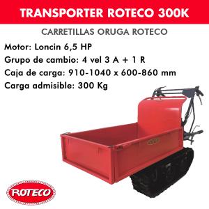 Carretilla Oruga (Transporter) Roteco 300K Motor Loncin 6,5HP