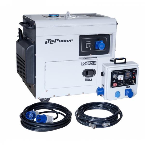 Dieselgenerator für Solarunterstützung (einphasig) ITCPower DG6500SE-LRS