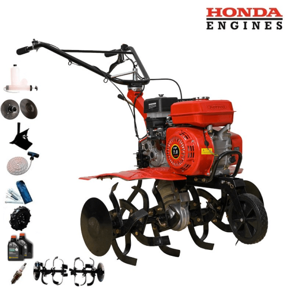 Motoazada Roteco EUROPA 900 Motor Honda GX-160 + Asurcador + Ruedas 400-8 + Regalos