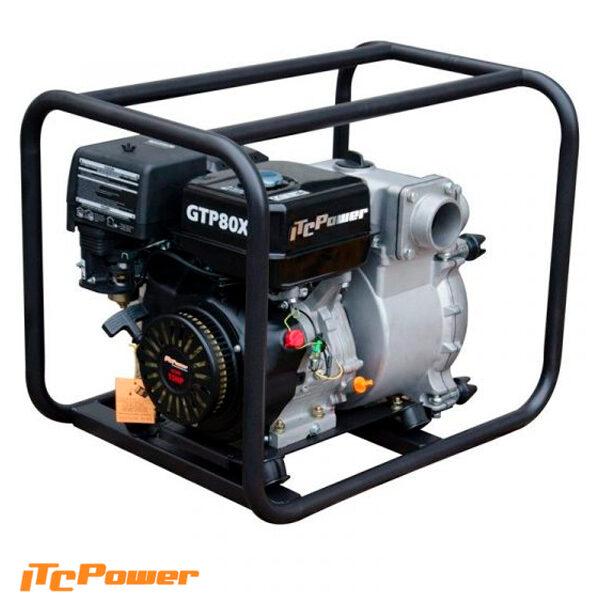 Motobomba Aguas Cargadas ( Gasolina ) ITCPower GTP80X