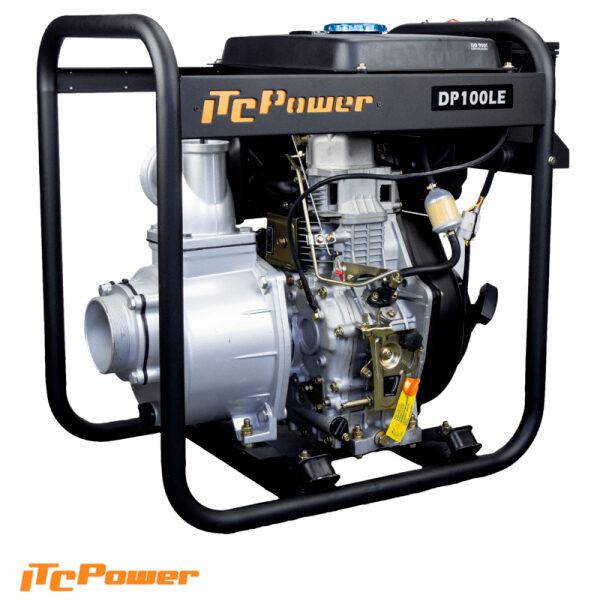 Motobomba Diesel 100 mm arranque eléctrico ITCPower DP100LE