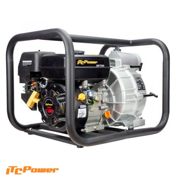 Motobomba Gasolina ITCPower Aguas Cargadas o Sucias GTP80