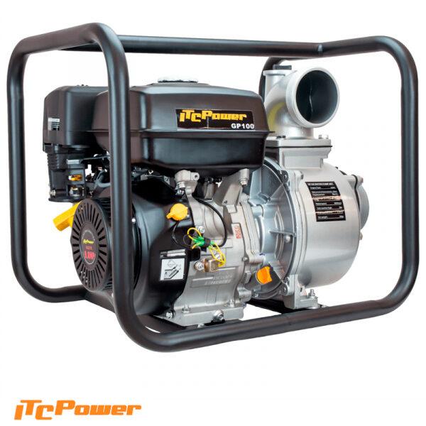 Motobomba Gasolina ITCPower Aguas Limpias de Caudal GP100 de 9 HP, 1000L/min, elevación máx. 25 m.
