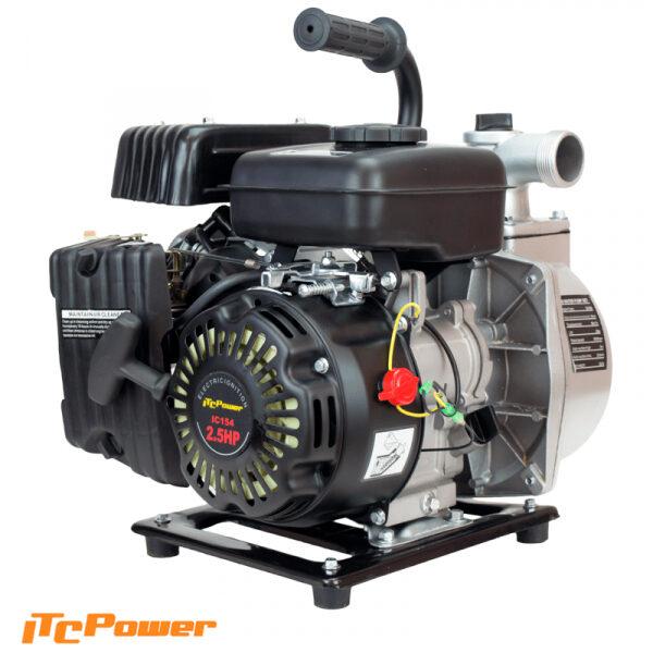 Motobomba Gasolina ITCPower Aguas Limpias de Caudal GP40 de 2,4 cv, 250L/min, elevación máx. 25m.