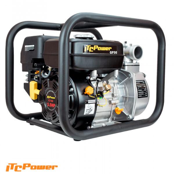 Motobomba Gasolina ITCPower Aguas Limpias de Caudal GP50 de 5.5 hp, 500L/min, elevación máx. 27 m.