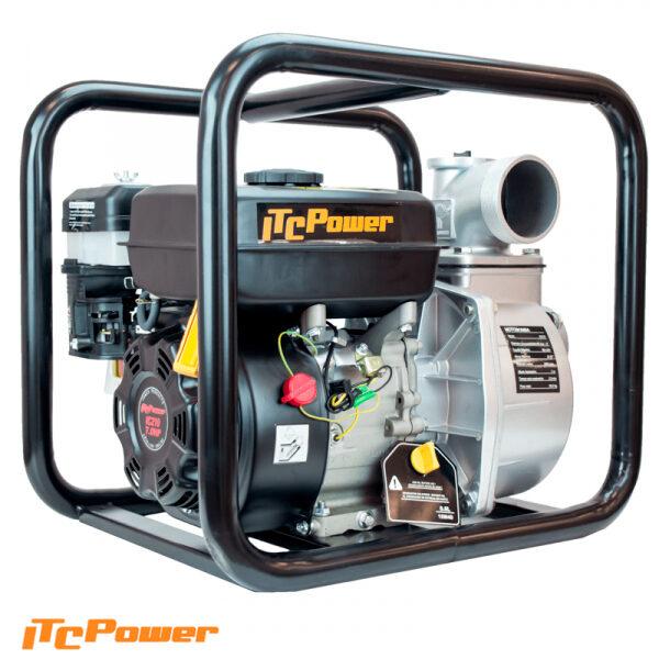 Motobomba Gasolina ITCPower Aguas Limpias de Caudal GP80 de 6.5 HP, 1.000L/min, elevación máx. 30 m.
