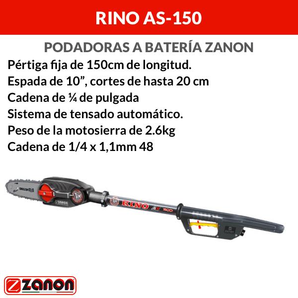 Podadora a batería Zanon Rino AS-150
