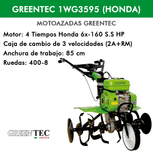 GREENTEC 1WG3595 MOTOR HONDA