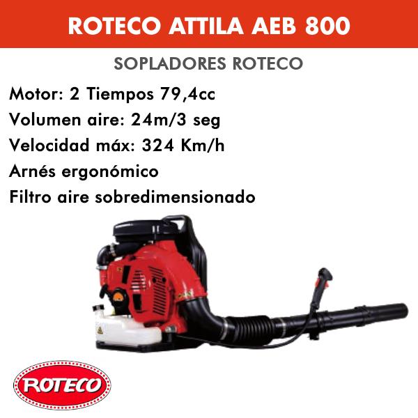 Soplador de hojas Roteco Attila AEB 800 79,4cc