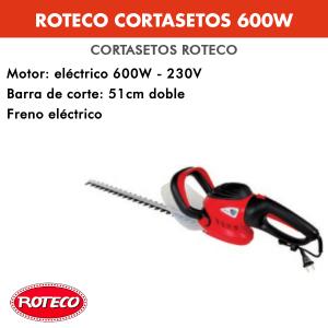 Cortasetos Roteco 600 W