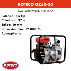 Motobomba Roteco GZ50-20 97cc