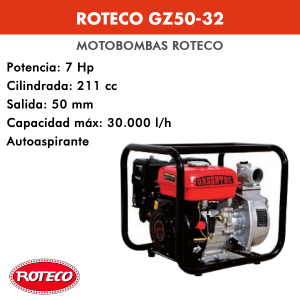 Motobomba Roteco GZ50-32 211cc