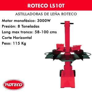 Astilladora leña Roteco LS10T Motor monofásico 3000W