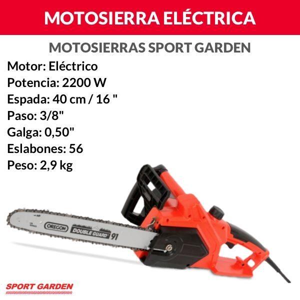 Motosierra Eléctrica Sport Garden