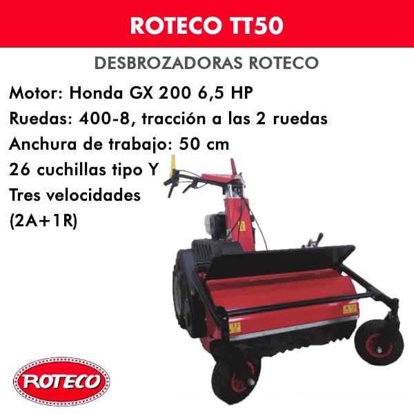 Desbrozadora Roteco TT50 motor Honda GX 200