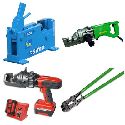 Cizallas de palanca, cizallas de banco eléctricas y de batería, manuales e hidráulicas Sima