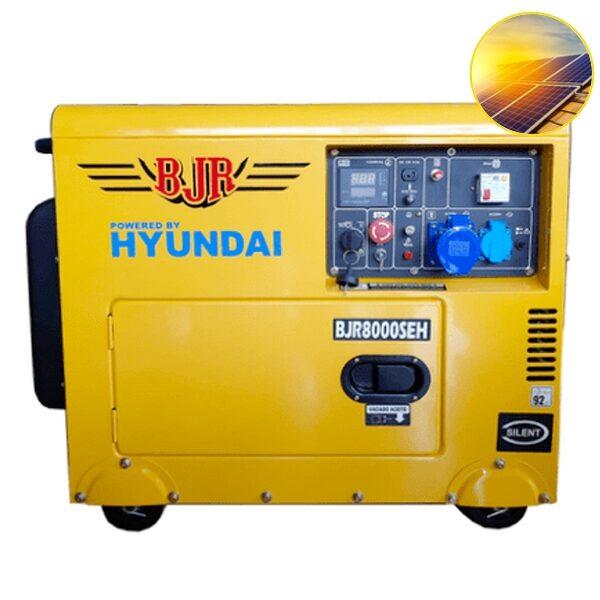 Generador Eléctrico para placas solares BJR 8000SEH Motor Hyundai