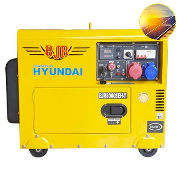 Generador Eléctrico para placas solares BJR 8000SEHT Motor Hyundai