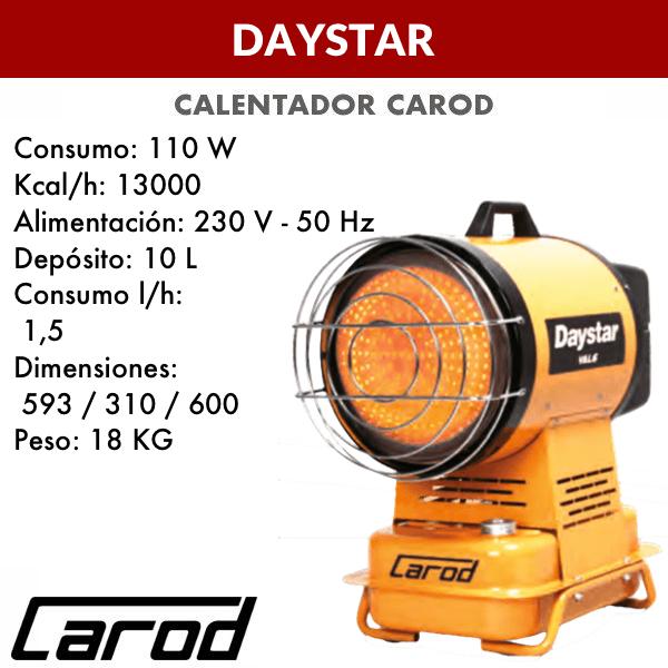 Calentador Carod DAYSTAR