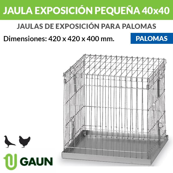 Jaula exposición palomas pequeña 40x40