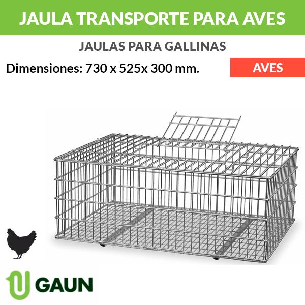 Jaula transporte de alambre para aves