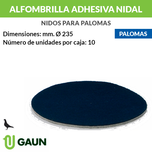 Alfombrilla adhesiva nidal palomas