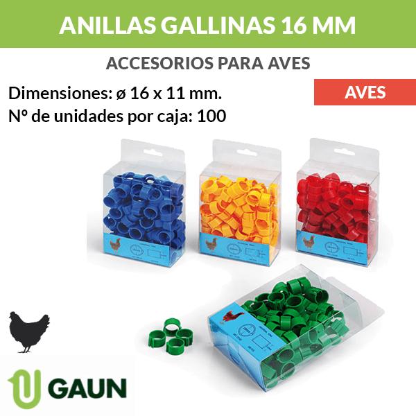 Anillas gallinas 16 mm