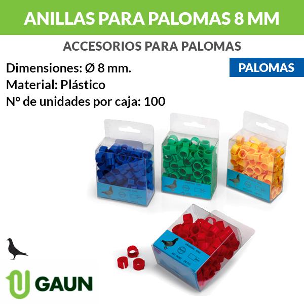 Anillas palomas 8 mm
