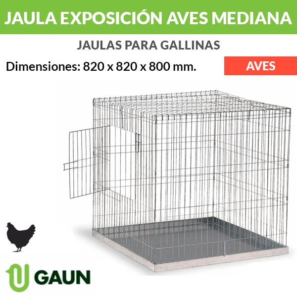 Jaula exposición para aves Mediana