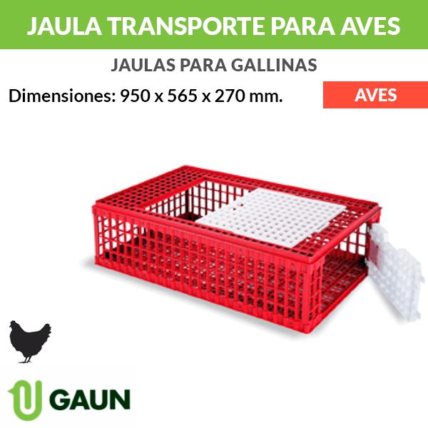 Jaula transporte de plástico para aves