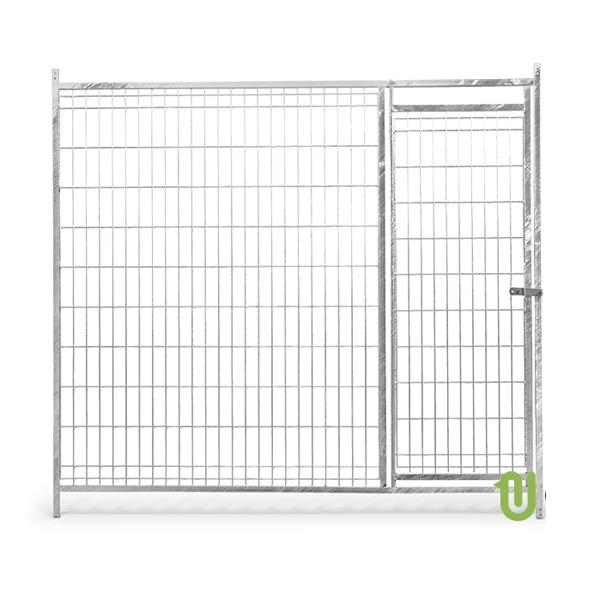Frente malla boxes perros con puerta