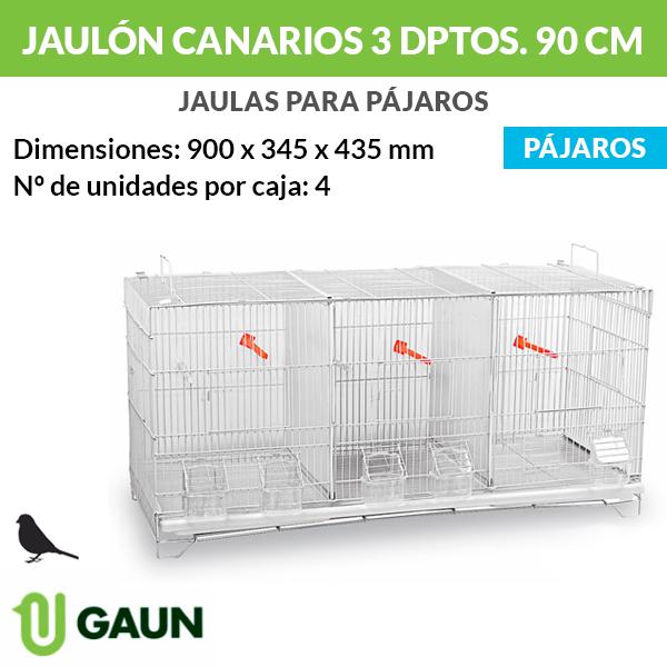 Jaulón canarios 3 departamentos - 90 cm